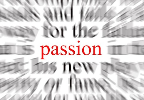 A conceptual image representing a focus on passion